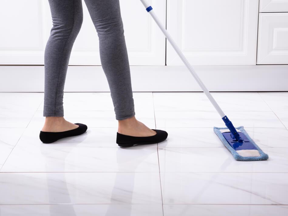 sweep tile flooring