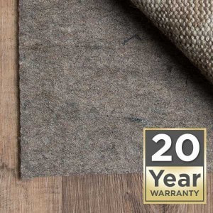 Rug pad 20 year warranty | Brandt Carpet and Tile