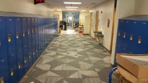 Flooring of Intermediate School Hallway | Brandt Carpet and Tile