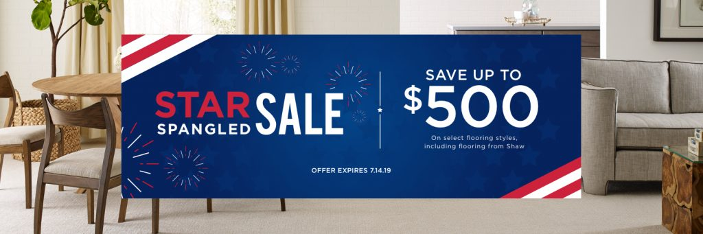 Star Spangled Sale at Brandt | Brandt Carpet and Tile
