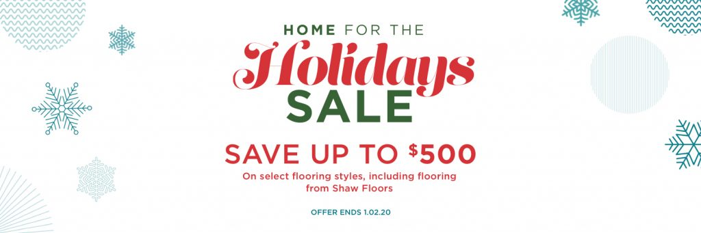 Home for the holidays sale | Brandt Carpet and Tile