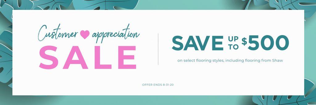Customer Appreciation Sale | Brandt Carpet and Tile
