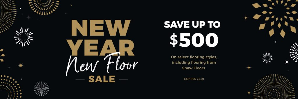 New Year New Floors Sale | Brandt Carpet and Tile
